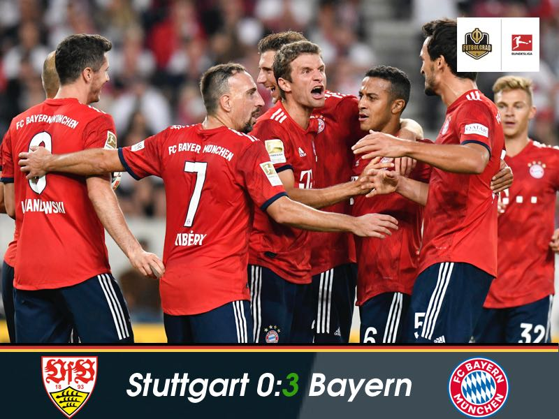 Bayern hammer Stuttgart to continue their perfect start to the season