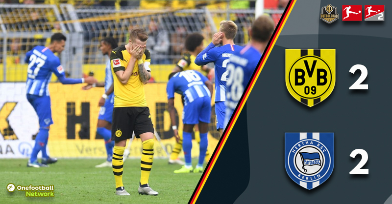 Hertha snatch a point in added time as Dortmund rue a number of missed opportunities