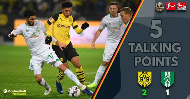 Efficiency, Alcacer and battling Bremen – Talking points from Dortmund v Bremen