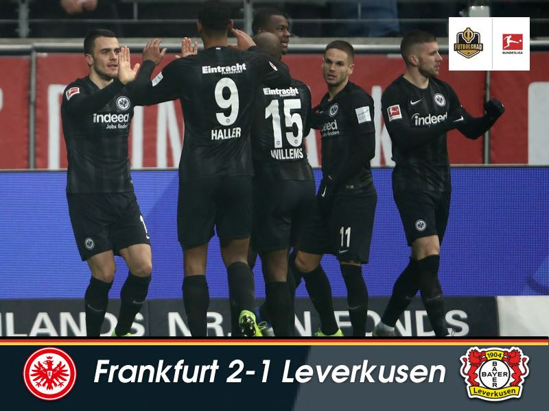 Frankfurt collect all three points in a plucky affair against Leverkusen