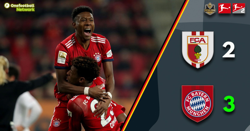 Bayern defeat Augsburg and narrow the gap to Dortmund