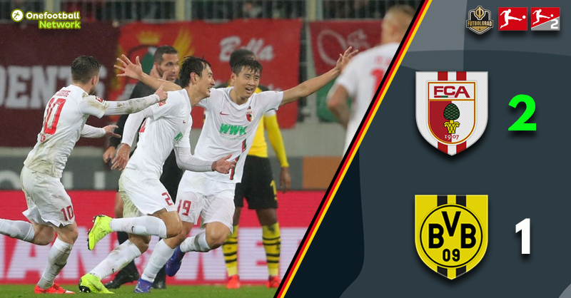 Dong-Won Ji scores twice as Augsburg shock Borussia Dortmund