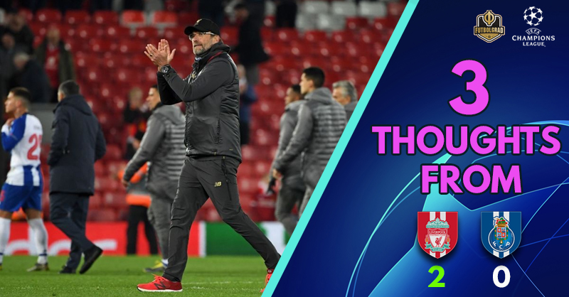 'Klopp's 400th career victory' and 'potential Champions League semi-finalists once again' – Three Thoughts from Anfield