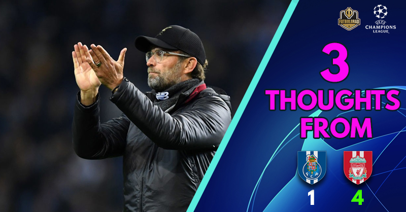 'Liverpool soak up the early pressure, but..' and the Reds' 'super front three' – Three thoughts from Portugal