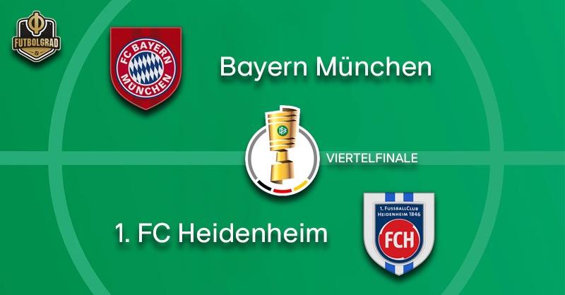 Giants Bayern host minnows 1.FC Heidenheim