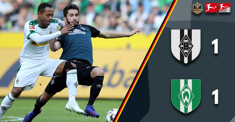 Gladbach and Bremen battle each other to a 1-1 draw