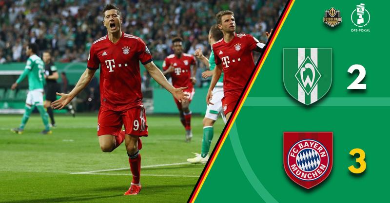 Werder battle hard but Bayern prevail