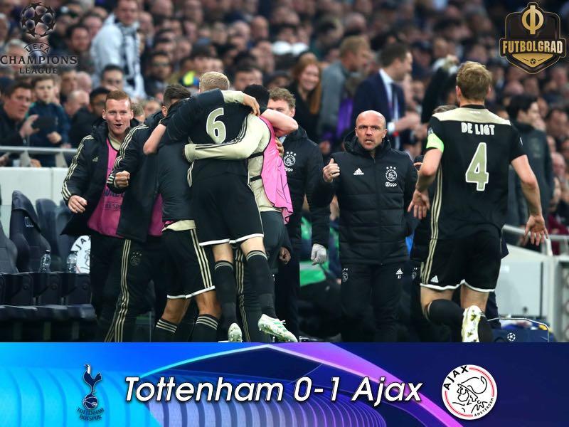 Advantage Ajax, Tottenham lose 1-0 at home