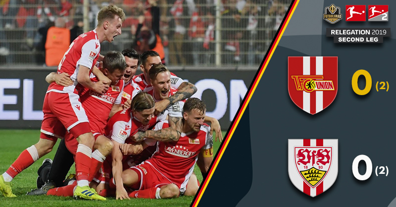 Union Berlin manage emotional promotion, Stuttgart relegated