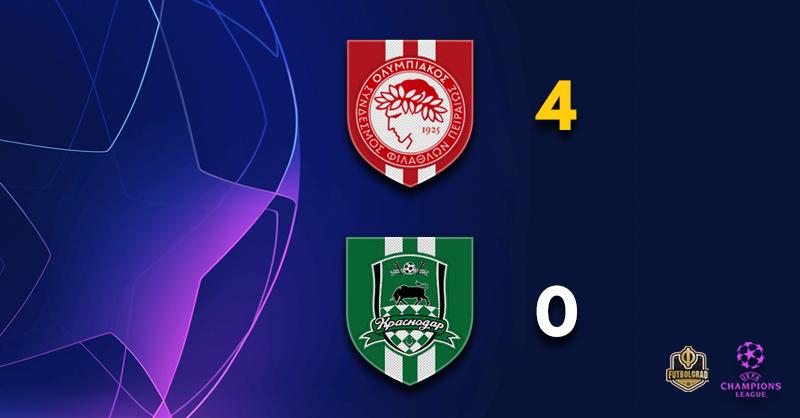 Olympiacos v Krasnodar – Champions League – Report